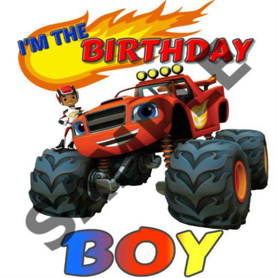 Instant Download Blaze And The Monster Machines Birthday Iron On Blaze And The Monster Machines Iron On Blaze T Shirt Decal Blaze Queens T Shirt Printing