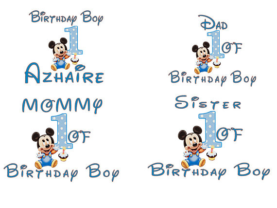 Mickey Mouse 1st Birthday Family Shirts Shop Clothing Shoes Online