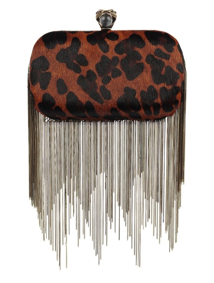INSPIRATION HOUSE OF HARLOW 1960 CHAIN FRINGE CLUTCH