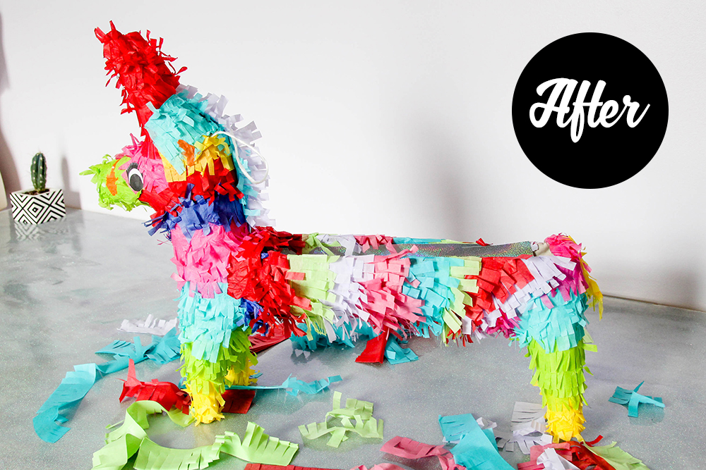 Pinata bar - after