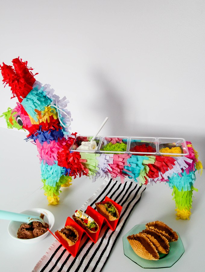 DIY PINATA BAR & TACO ICE CREAM SUNDAES