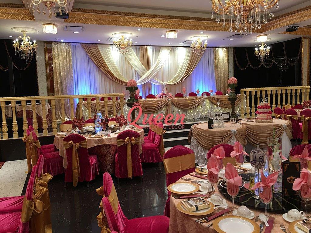 Reception Decor Backdrop Queen Wedding Decor
