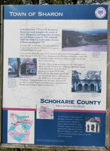 Signs abound throughout the Sharon Springs NY talking about community and history.