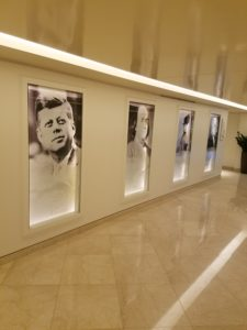 Many famous Americans from Boston are on display at the Langham Hotel Boston.