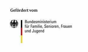 Logo Förderung durch Bundesministerium für Familie, Senioren, Frauen und Jugend