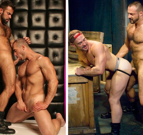 muscle gay porn star Craig Reynolds sucking Steve Cruz cock and getting fucke by Arpad Miklos