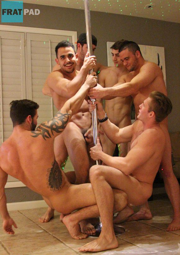 Fratmen Naked Muscle Hunks Pole Dancing At Fratpad Friday-3689