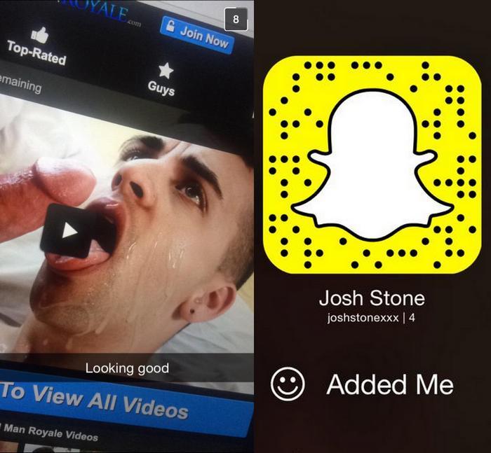Josh Stone Gay Porn Star Snapchat
