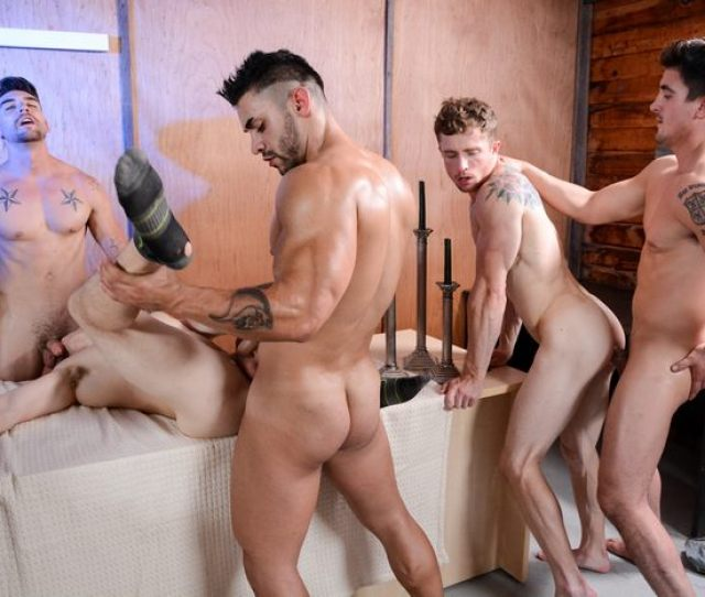 Gay Porn Muscle Hunk Orgy Fuckfest Studs