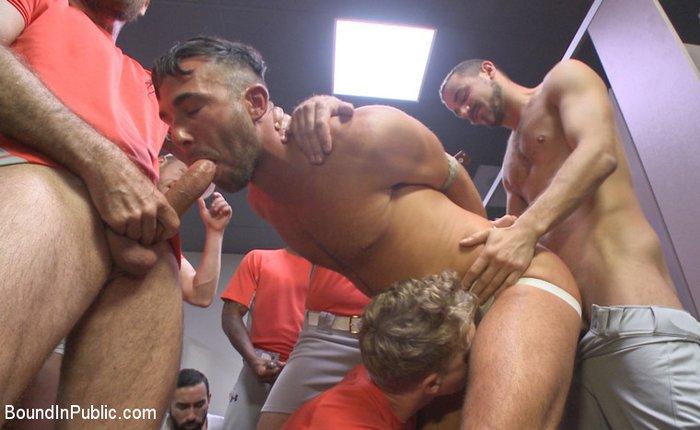 Alex Mason Gay Porn Gangbang BoundInPublic