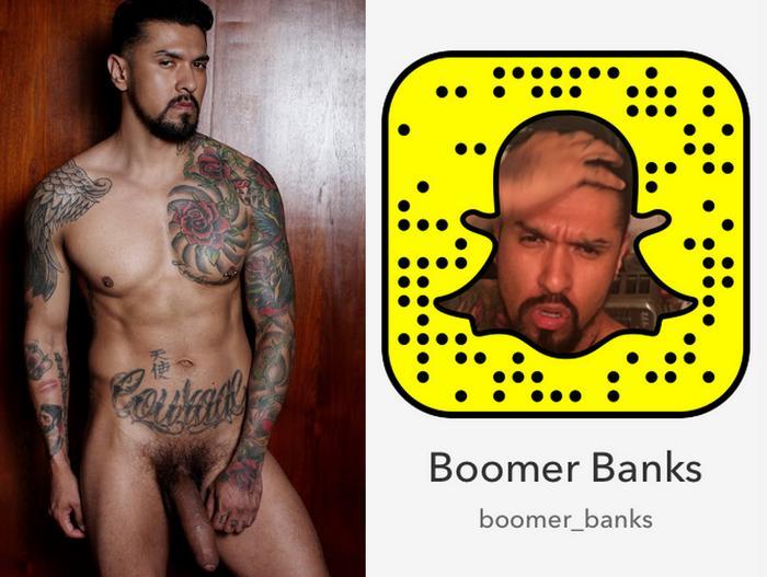 Boomer Banks Gay Porn Star Snapchat Snapcode