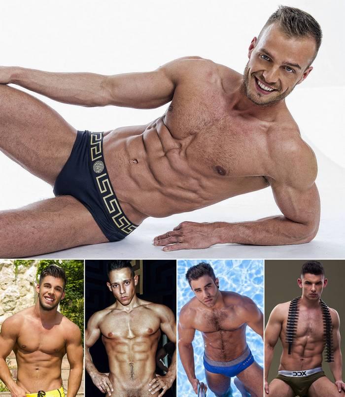 Muscular Male Models Webcam Jamie Blyton Alessio Caballero Keon Davis Antonio Valentini