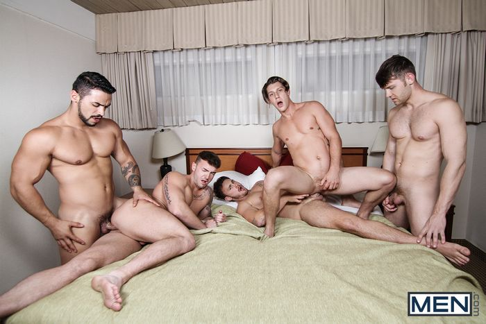 Gay Porn Orgy Arad Jacob Peterson Jake Ashford Paul Canon Trevor Long