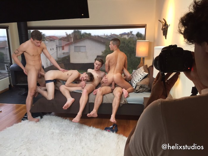 Gay Porn Blake Mitchell Sean Ford Wes Campbell Joey Mills Corbin Colby Orgy
