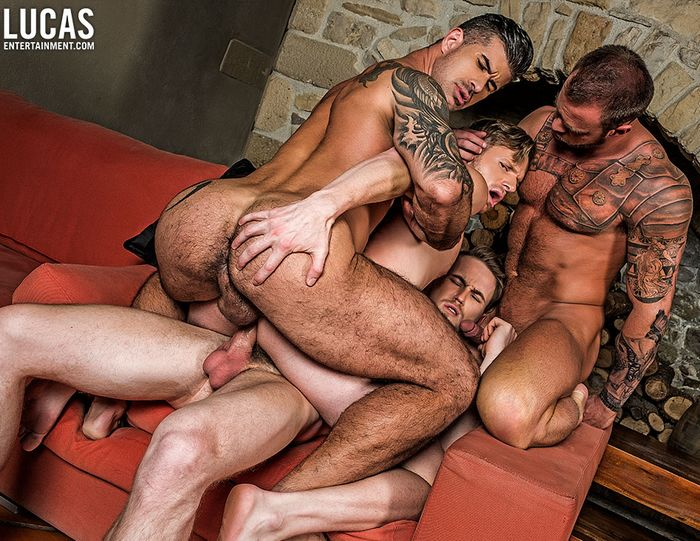 Brian Bonds Gay Porn DP Adam Killian Marq Daniels Michael Roman Bareback Orgy