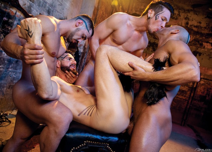 Dean Monroe Gay Porn Gang Bang Sean Zevran Arad Gabriel Alanzo