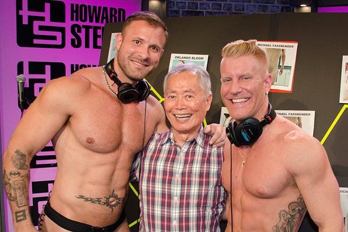 Gay Porn Stars Austin Wolf JohnnyV George Takei Howard Stern Cocktober