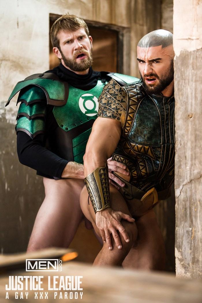 Aquaman Green Lantern Justice League Gay Porn Parody Francois Sagat Colby Keller