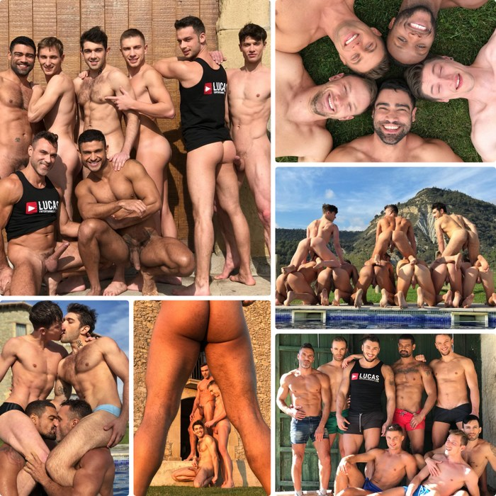 Gay Porn Stars Muscle Hunks Lucas Entertainment Gay Porn Barcelona