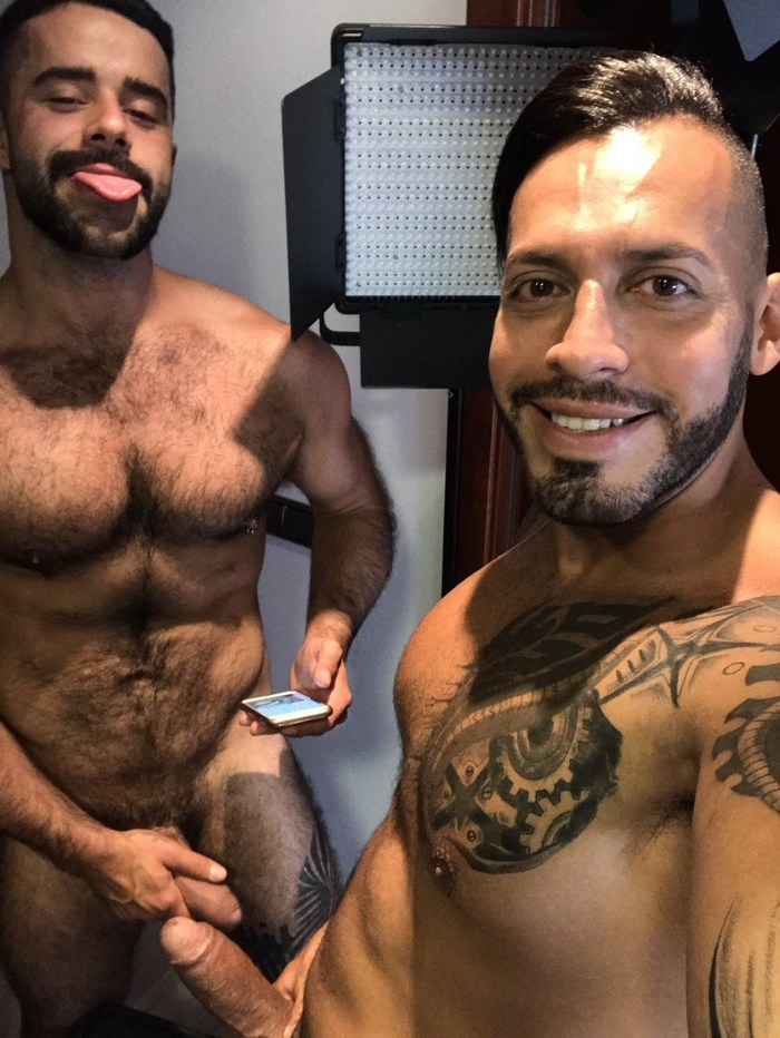 Viktor Rom Teddy Torres Gay Porn Behind The Scenes Selfie