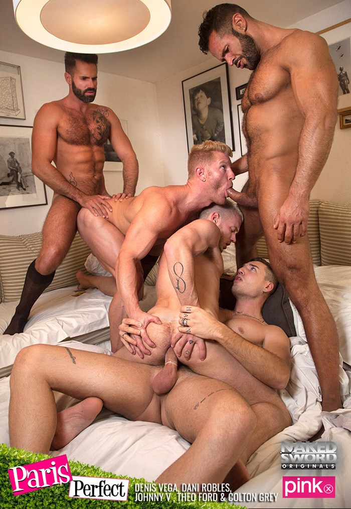 Gay Porn Orgy Johnny V Colton Grey Theo Ford Dani Robles Denis Vega