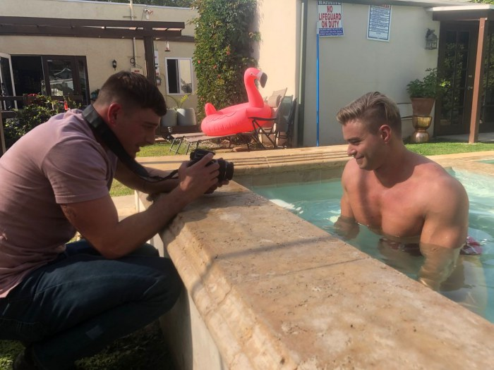 Colin Hart Gay Porn Star Muscle BTS