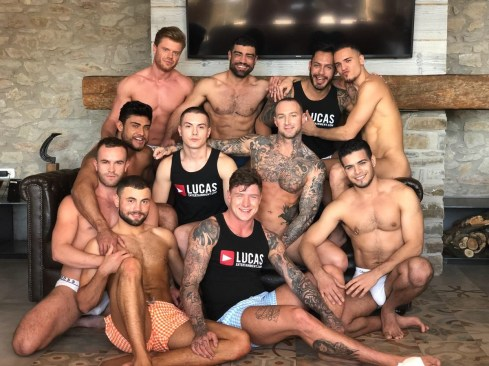 Gay Porn Stars Behind The Scenes LucasEnt Barcelona 2018 05
