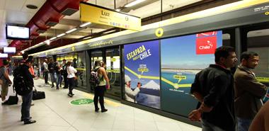 Los destinos de Chile destacan en metro de Sao Paulo