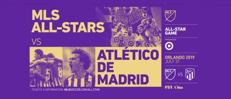 Atlético Madrid frente al equipo de la MLS en el partido MLS All Star 2019