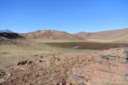 Vue sur le lac col d'Akka Moussa (2400m)