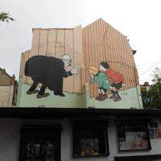 Peinture murale Quick et Flupke (rue haute)
