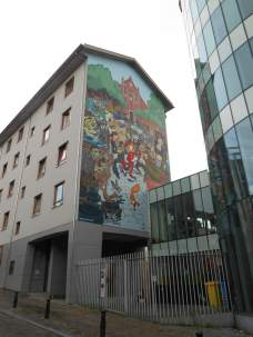 Peinture murale Spirou (rue Notre Dame de Grâce)