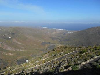 Vue du mirador de los Helechos (sur Arrieta)
