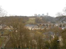 Vue de la porte des trois tours (Luxembourg)