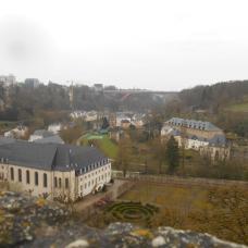 Vue des casemates du bock sur le circuit Vauban (Luxembourg)