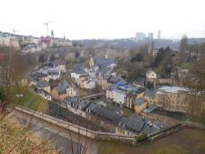 Vue du plateau du Saint Esprit sur le Grund (Luxembourg)