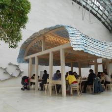 Mudam café : oeuvre de Ronan et Erwan Bouroullec