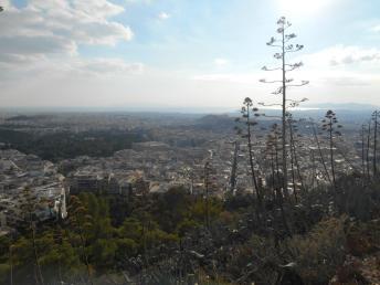 Vue depuis la la colline du Lycabette (Athènes)