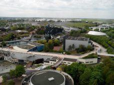 Vue sur le parc du Futuroscope