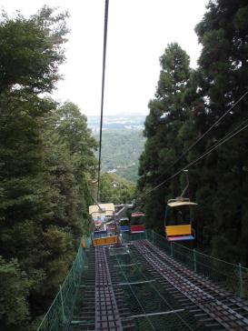Descente du Mont Takao en télésiège