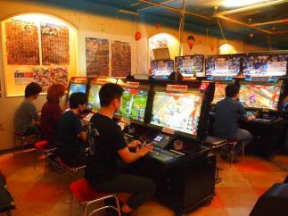 Joueurs à l'Humax (Shinjuku)