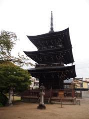 Pagode à 3 étages du temple Hida Kokubunji (Takayama)