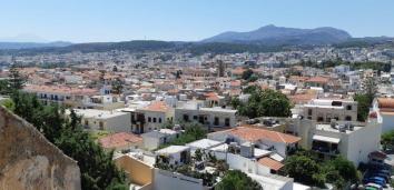 Vue de la Fortezza, fort vénitien de Réthymnon (Crète)