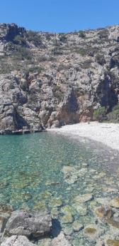 Crique du port antique de Lissos (Crète)