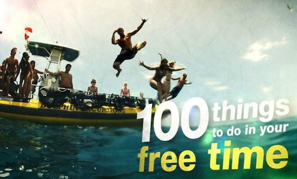 100 cosas que hacer en tu tiempo libre