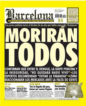 Tapa Barcelona - Gripe porcina y Dengue