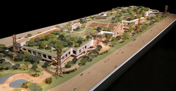 Maqueta del Campus de Facebook de Frank Gehry