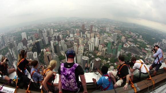 Salto Base desde la Kuala Lumpur Tower