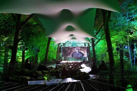 Epic: Un cine al descubierto en medio del bosque