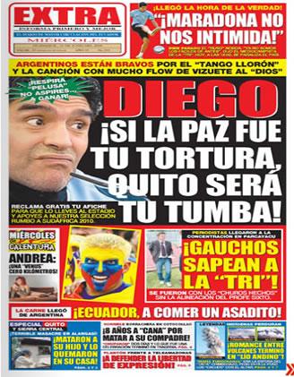 La tapa contra Maradona